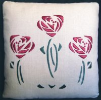 Rose Pillow (silk)