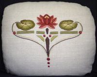 Water Lily Pillow (Fire color-way)