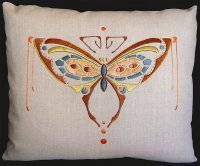 Butterfly Pillow Embroidery Kit (Silk Thread)