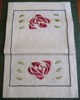 Rose Table Scarf Embroidery Kit (silk)