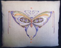 Butterfly Pillow (purple/copper color-way)