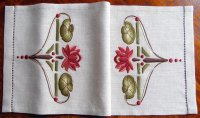 Water Lily Table Scarf Embroidery Kit