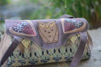 Owl Hand Embroidered Handbag