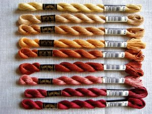 DMC Pearl Cotton Thread (Red to Gold Hues)