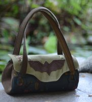 Bat Hand Embroidered Handbag