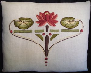 Water Lily Pillow Embroidery Kit