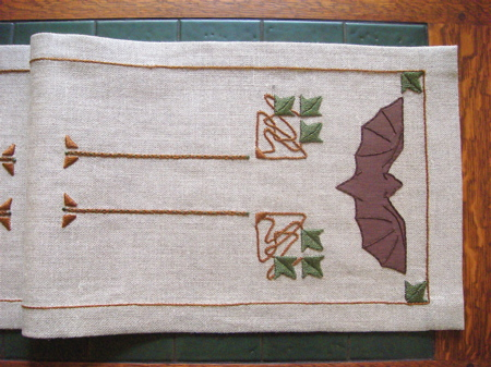 Bat Table Scarf Embroidery Kit