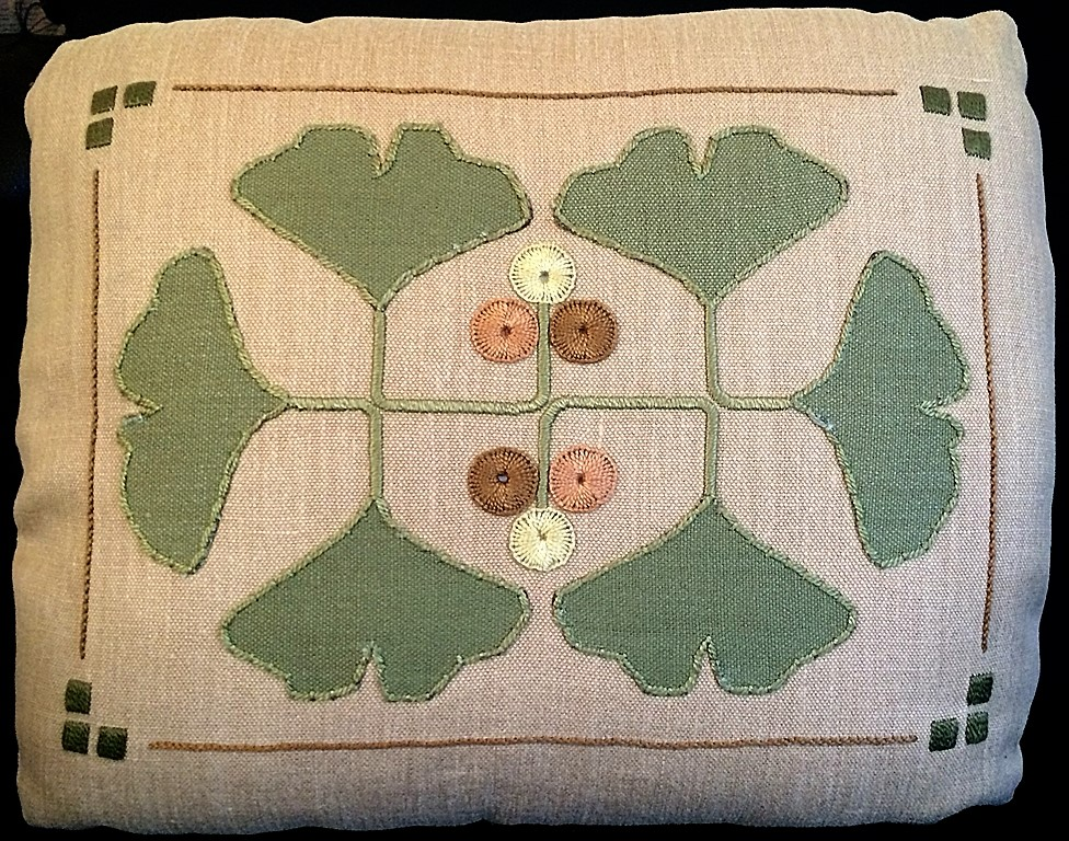 Gingko Pillow Embroidery Kit