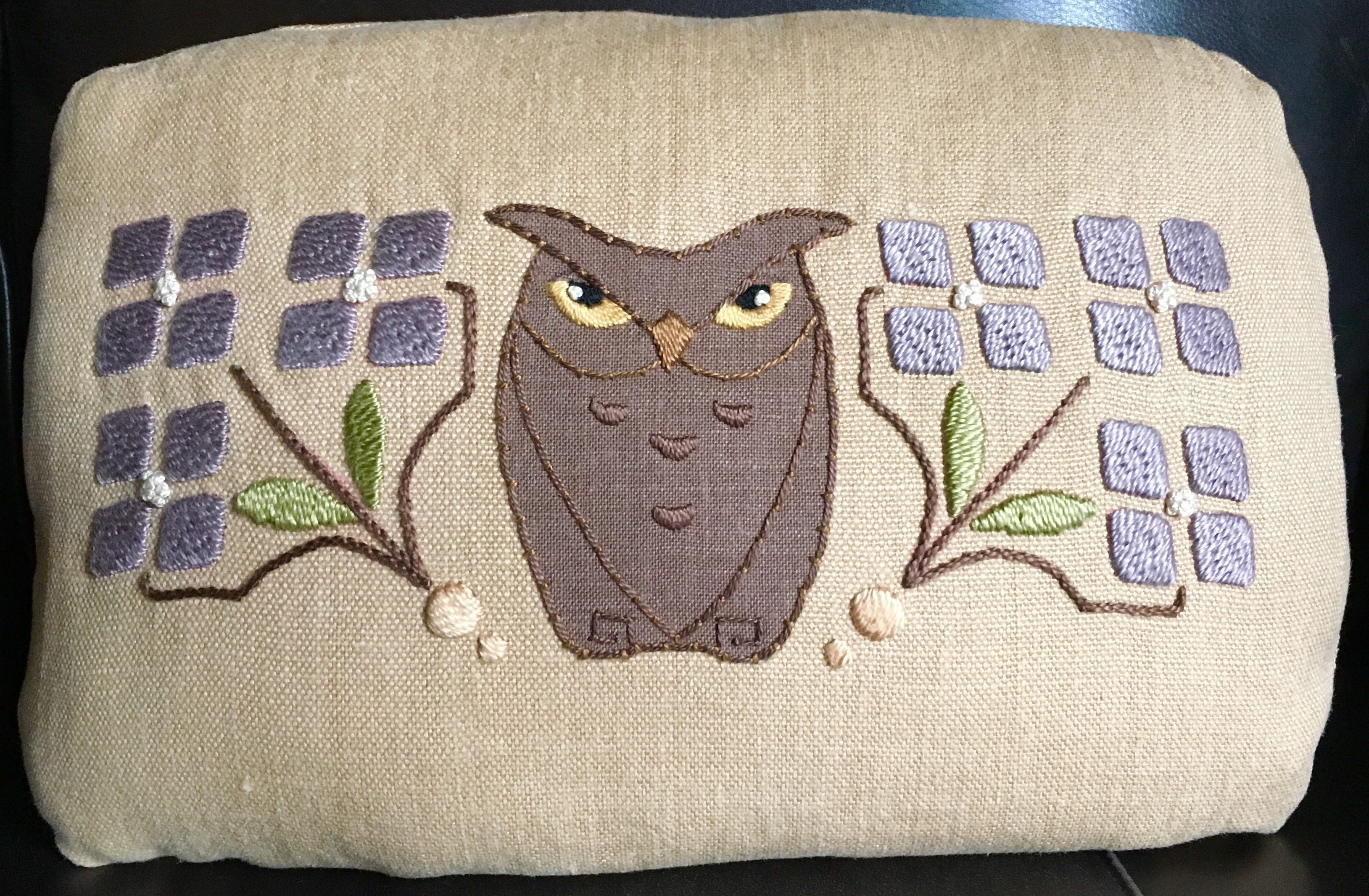Little Bro Owl Pillow Embroidery Kit