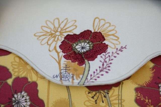 Poppy Hand Embroidered Handbag