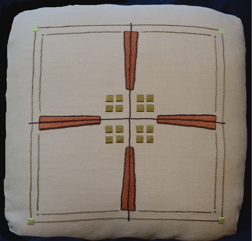 Prairie Cross Pillow Embroidery Kit