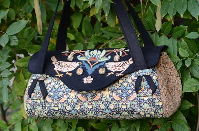 Strawberry Thief Hand Embroidered Handbag 325 00 Paint By