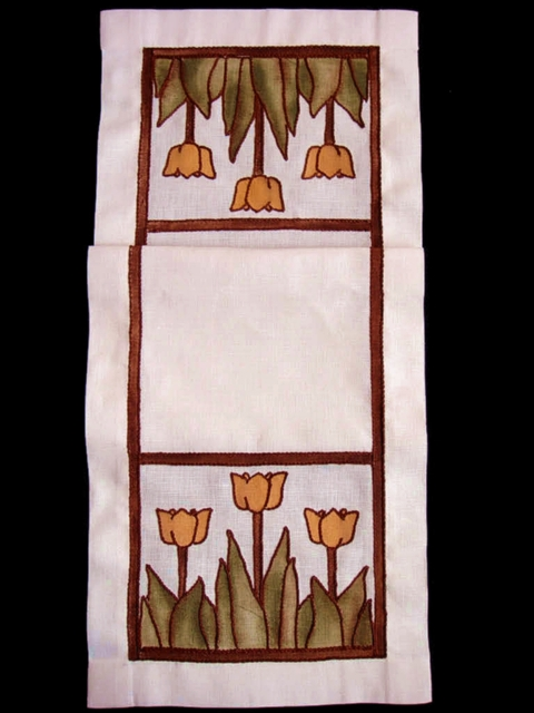Tulip Table Scarf Embroidery Kit