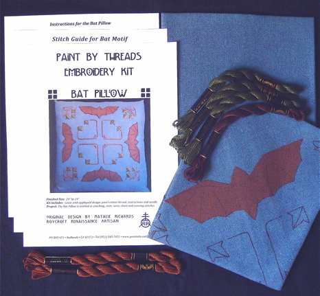 Bat Pillow Embroidery Kit
