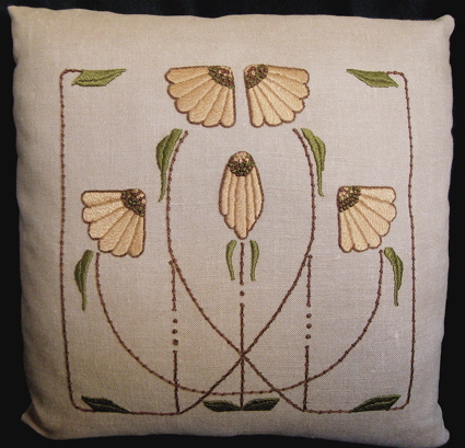 Carrie's Garden Pillow (gold)