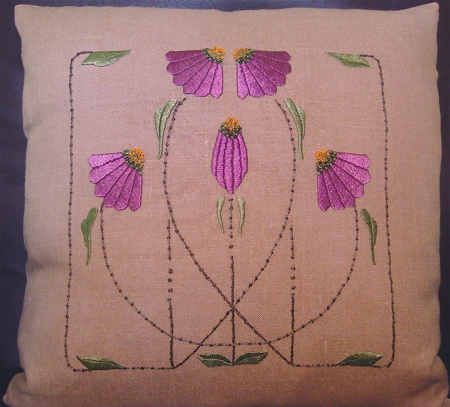 Carrie's Garden Pillow (pink)