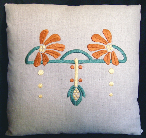 Coneflower Pillow Embroidery Kit