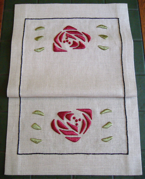 Rose Table Scarf (silk)