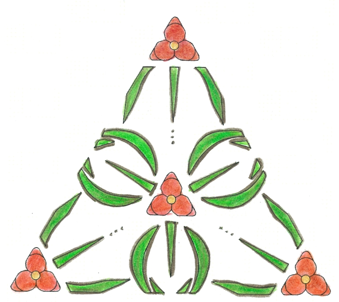 spiderwort motif